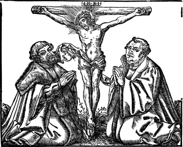 Elector and Luther before the Cross