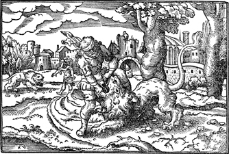 Samson Slays a Lion