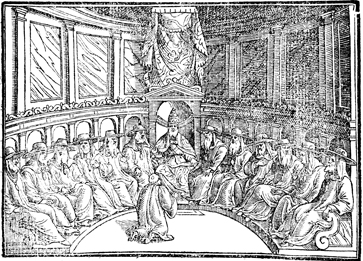 The Pope in Conclave with his Cardinals