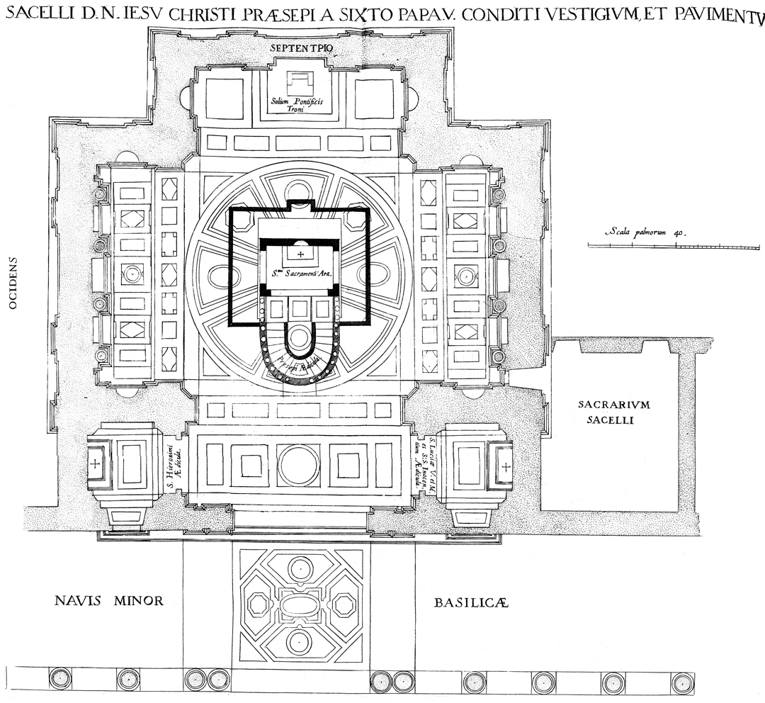 Library Digital Image Archive: Floor Plan of the Sistine Chapel