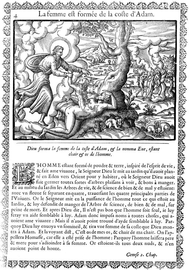 Creation of Eve and the Tree of the Knowledge of Good and Evil