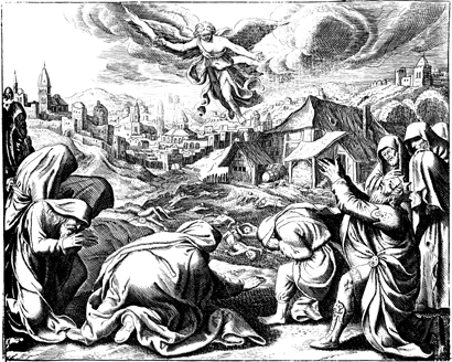 God Smites Israel with a Deadly Plague