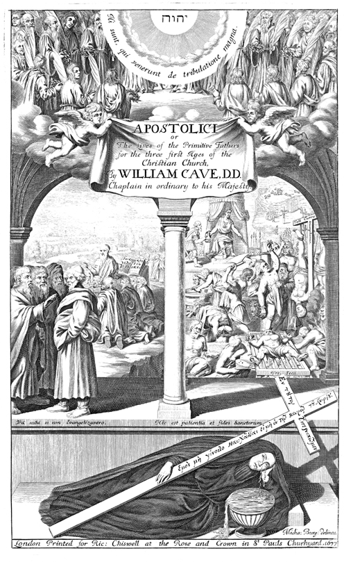 Frontispiece for Wm. Cave's 'The Lives of the Primitive Fathers'