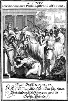 Paul and Barnabas Confront the Priest of Zeus