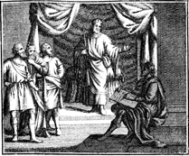 King Solomon Dictates his Proverbs