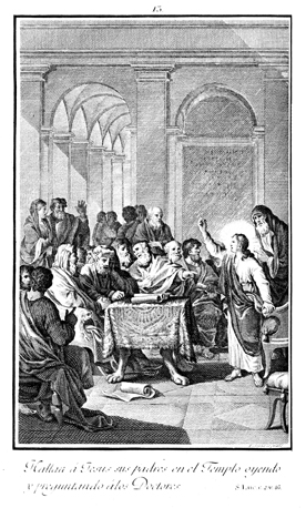 The Young Jesus in the Temple