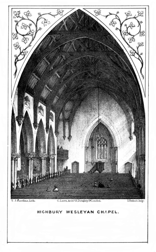 Highbury Wesleyan Chapel (interior view)